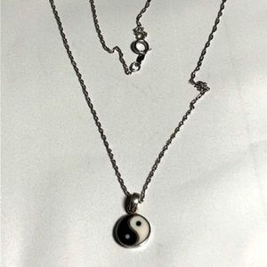 Sterling Silver Ying/Yang  Necklace